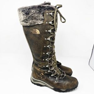 The North Face Adrianne II Boots tall lace up fur
